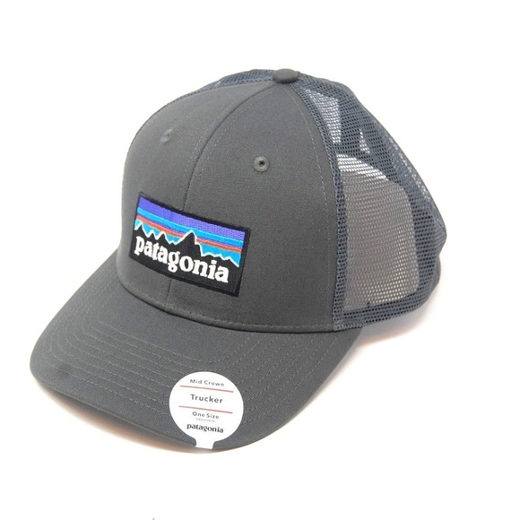 3d30eb6db38 Patagonia Logo Trucker Hat New - Forge Grey